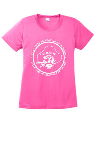 EagleRidge- Pink Youth Wicking Tee (YST350)