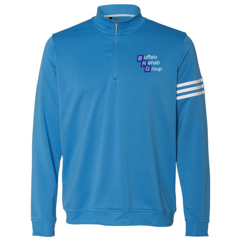 BRG - Adidas Mens 3-Stripe French Terry Quarter-Zip Pullover [67553]