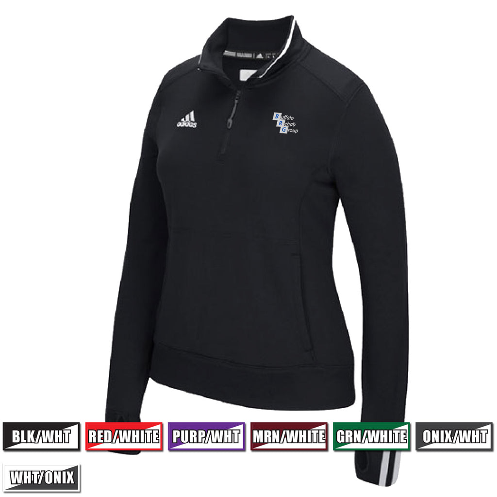 57e16a0172b2 BRG - Adidas Women s CLIMALITE® 1 4 Zip Pullover (6783) by Adidas ...