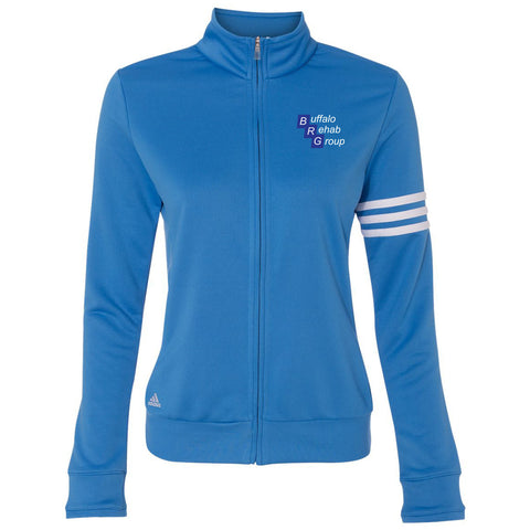 BRG - Adidas Women's 3-Stripe French Terry Full-Zip Jacket [67953]