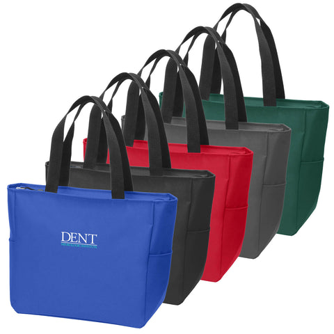 DENT - Essential Embroidered Zip Tote (BG410)