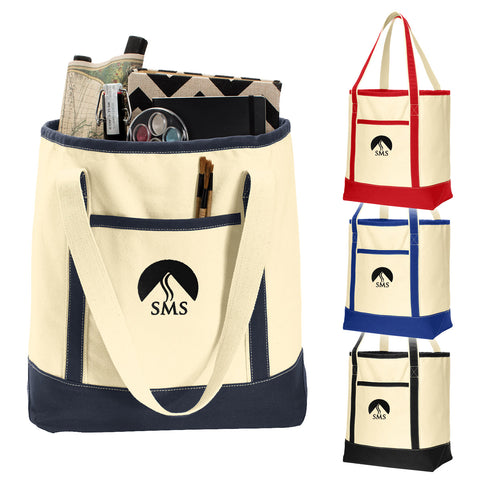 SMS - Large Cotton Canvas Boat Tote (BG413)