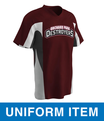 OPD - Personalized Relief Baseball Jersey (BS34)