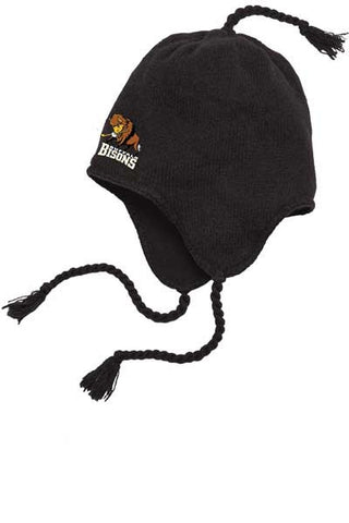 Bisons - Embroidered Flap Beanie (DT604)