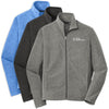 TEXN - Mens Heather Microfleece Full-Zip Jacket (F235)