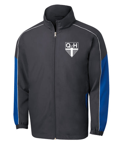QOH - Sport-Tek Piped Full-Zip Colorblock Wind Jacket (L|JST61)