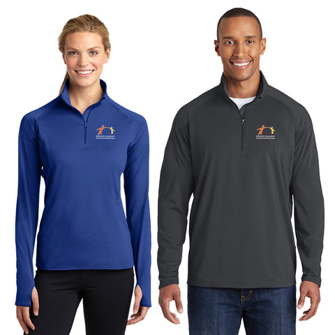 REACH - Mens/Ladies Sport-Wick® Stretch 1/2-Zip Pullover (L/ST850)