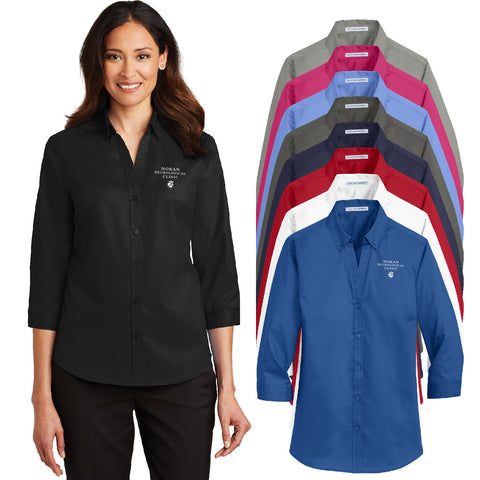 NORAN - Ladies 3/4-Sleeve SuperPro Twill Shirt (L665)