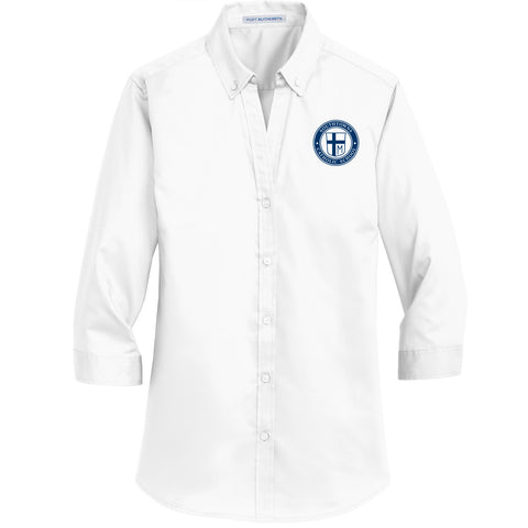 SCS - Ladies 3/4-Sleeve SuperPro Twill Shirt (White L665)