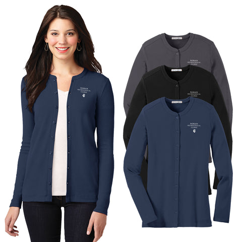 NORAN - Ladies Concept Stretch Button-Front Cardigan (LM1008)