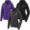 HTA - Ladies Sport-Wick Fleece Full-Zip Hooded Jacket (LST238)