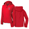 IMGL - Ladies Colorblock Hooded Raglan Jacket (Red/Wht LST76)