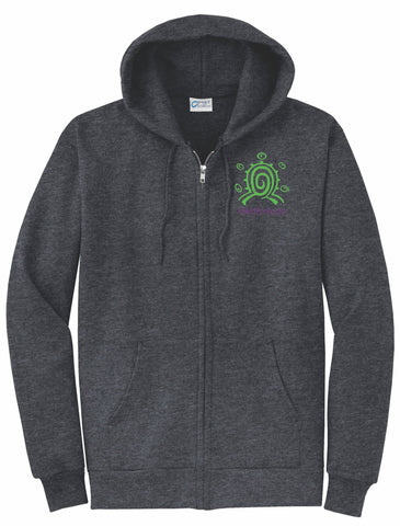GBB-Youth & Adult Full Zippered Hooded SweatShirt- PC90ZH(Y)