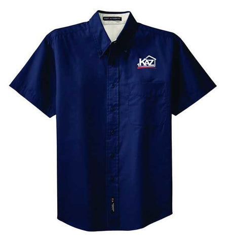 KAZ- TALL Mens Short Sleeve Easy Care- TLS508
