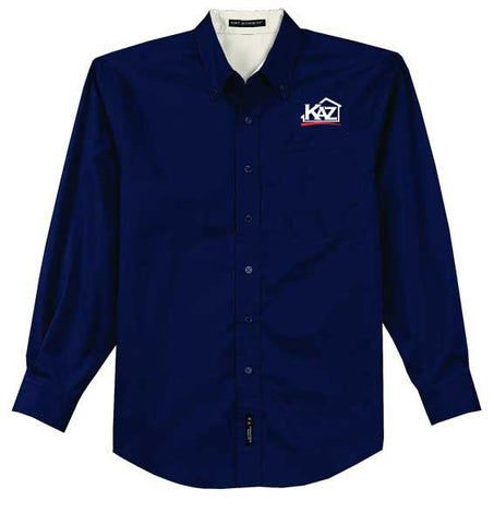 KAZ- TALL Mens Long Sleeve Easy Care- TLS608