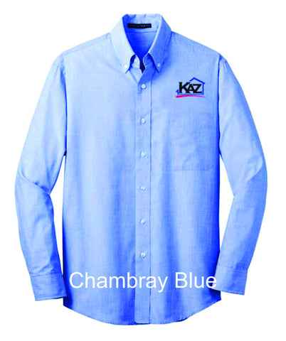 KAZ- Mens Long Sleeve crosshatch- S640