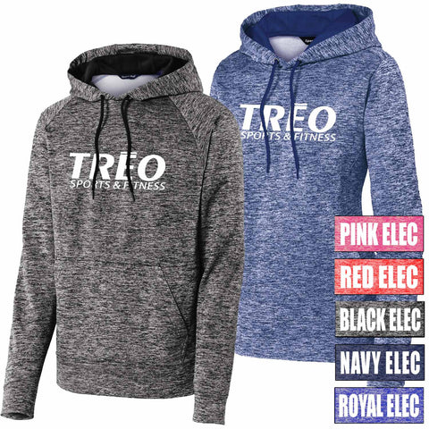 TREO - Printed Electric Heather Fleece Hoodie (L/ST225)