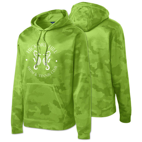 HHSWIM - Sport-Wick® CamoHex Fleece Hooded Pullover (Lime Shock Y/ST240)