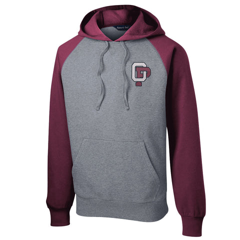 OPMS - Raglan Colorblock Pullover Hooded Sweatshirt (ST267)