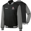 REVF - Fleece Letterman Jacket (Black ST270)