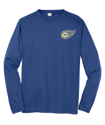 WSWings - Embroidered Long Sleeve Competitor Tee (Royal Y|ST350LS)