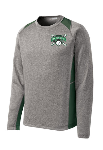 EYB - Sport-Tek® Long Sleeve Heather Colorblock Contender™ Tee ST361LS