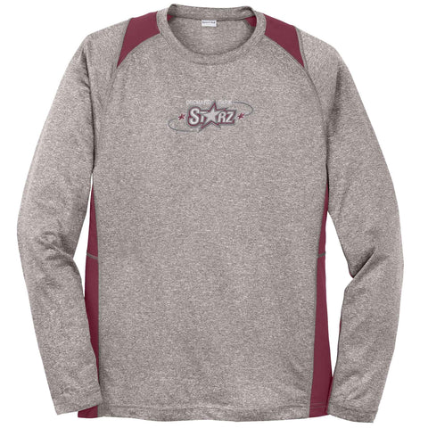 OPS - Heather Colorblock Long-Sleeve Contender Tee (ST361LS)