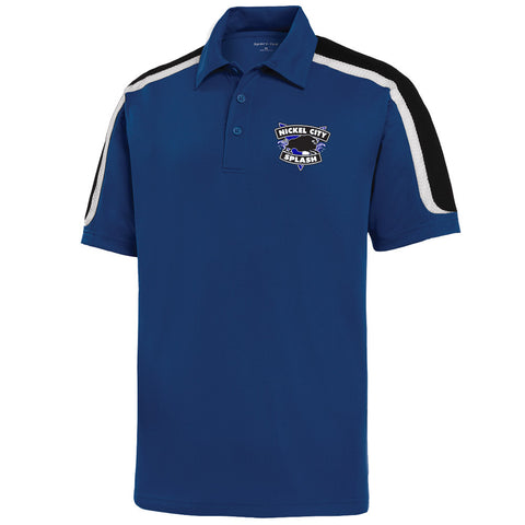 NCS - Tricolor Shoulder Micropique Sport-Wick Polo (L/ST658)
