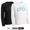 "RFR - Unisex Long-Sleeve ""Bike"" Print Performance Crew (ST700LS)"