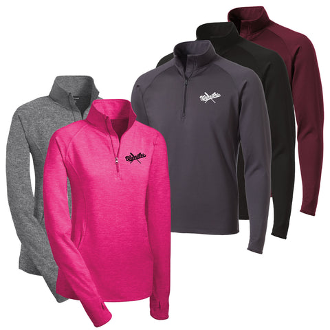 OPWBB - Womens/Mens Sport-Wick Stretch 1/2-Zip Pullover (L/ST850)