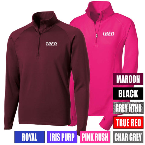 TREO - Mens/Womens Sport-Wick® Stretch 1/2-Zip Pullover (L/ST850)