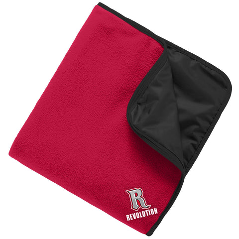 REVF - Embroidered Fleece & Poly Travel Blanket (TB850)