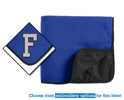 FROATH - Port Authority® Fleece & Poly Travel Blanket (TB850)