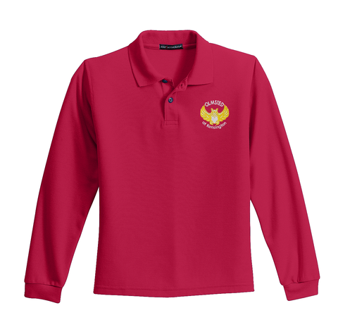 Olmsted/K - Port Authority® Youth Long Sleeve Silk Touch™ Polo (Y500LS)
