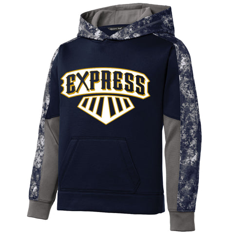 EXPR - Youth Sport-Wick Mineral Freeze Colorblock Hoodie (YST231)