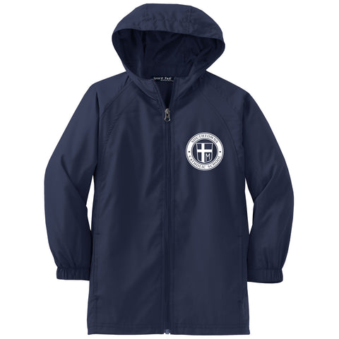 SCS - Youth Hooded Raglan Jacket (Navy YST73)