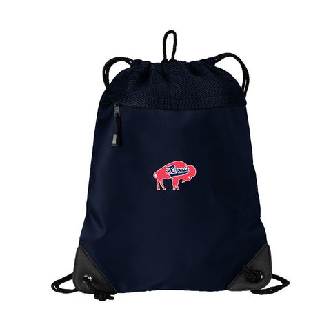 Regals - Embroidered Cinch Pack with Mesh Trim (Navy BG810)