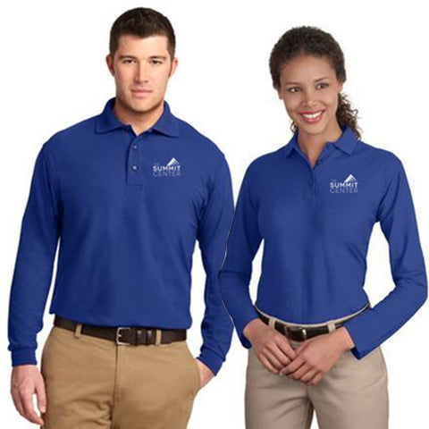 SUMMIT - Port Authority® Long Sleeve Silk Touch™ Polo (K/L500LS)