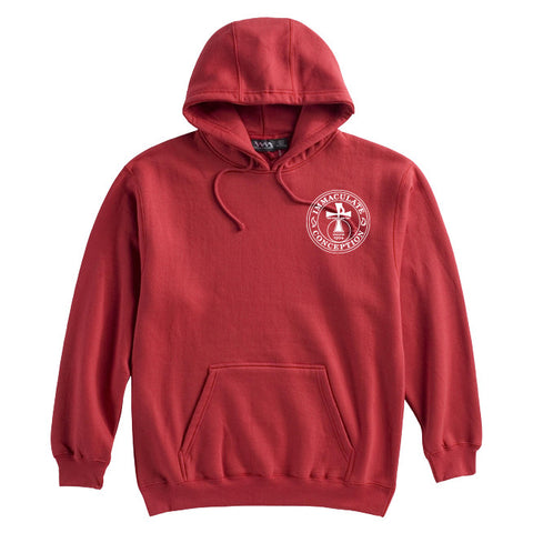 ICS - Embroidered Hooded Sweatshirt - 18500(B)
