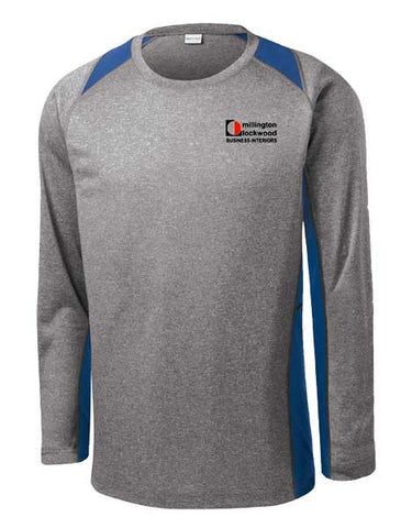 MILLINGTON-Casual-Long Sleeve Heather Colorblock Contender™ Tee- ST361LS
