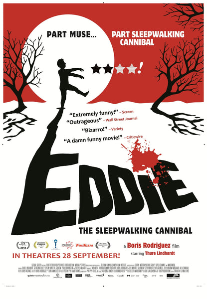 Eddie the Sleepwalking Cannibal poster (autographed)