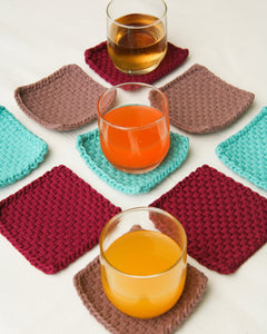 Habi Lifestyle Handwoven Upcycled Coaster Set