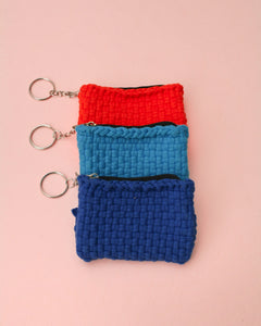 Habi Lifestyle Upcycled Handwoven Coin Purse Keychain