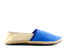 Load image into Gallery viewer, Women's Classic Espadrilles Blue/Beige