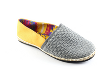 Load image into Gallery viewer, Women's Gray/Yellow Classic Espadrilles