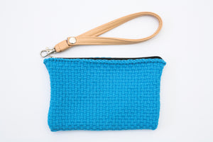 Woven Wristlet with Leatherette Strap