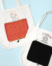 Load image into Gallery viewer, Embroidered Foldable Tote Bag