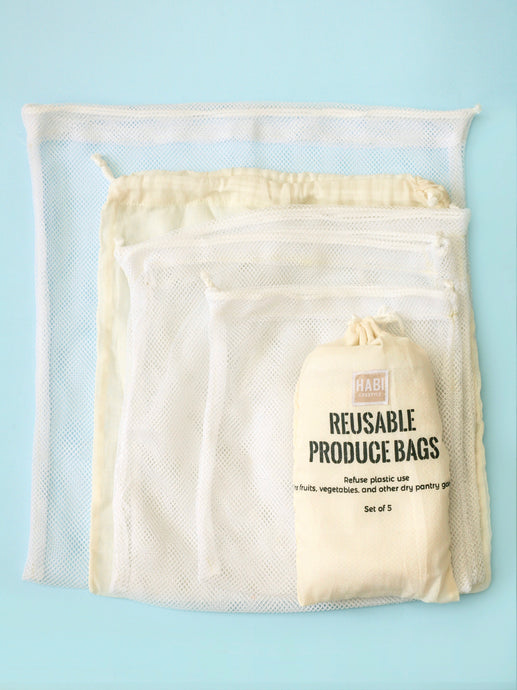 Habi Lifestyle Zero Waste Sustainable Produce Bags