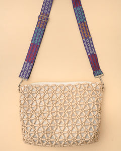 Amelia Beaded Maxi Crossbody with Langkit Strap