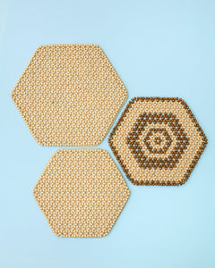 Hexagon Beaded Trivets (Set of 3)